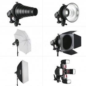 Godox S Speedlite Flash Mount Holder Bracket Lampu Kamera - Black - 3