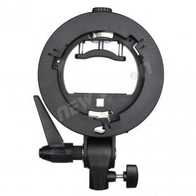 Godox S Speedlite Flash Mount Holder Bracket Lampu Kamera - Black - 4