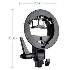 Godox S Speedlite Flash Mount Holder Bracket Lampu Kamera - Black - 10
