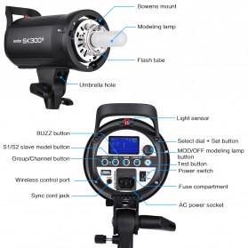Godox SK300II Professional Compact Studio Flash Strobe Light 300Ws 2.4G Wireless - Black - 5