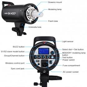 Godox SK400II Professional Compact Studio Flash Strobe Light 400Ws 2.4G Wireless - Black - 4