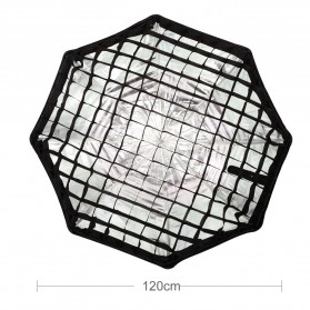 Godox Octagonal Honeycomb Grid 120cm for Umbrella Softbox Reflector - Black - 3