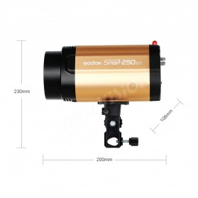 Godox 250SDI Smart Strobe Photo Flash Studio Light 250Ws 220V - Black/Orange - 2