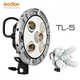 Godox Socket Bohlam Lampu Kamera Foto Studio 5 in 1 - TL-5 - Black