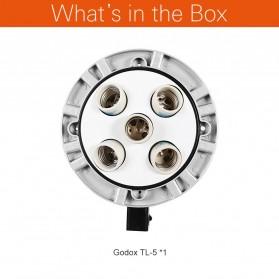 Godox Socket Bohlam Lampu Kamera Foto Studio 5 in 1 - TL-5 - Black - 2
