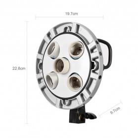 Godox Socket Bohlam Lampu Kamera Foto Studio 5 in 1 - TL-5 - Black - 3