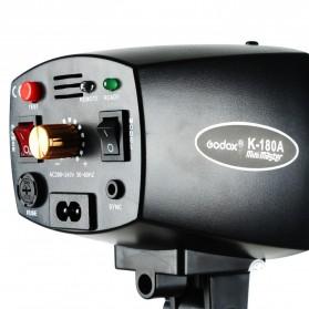Godox Mini Master Lampu Flash Kamera Studio Strobe Light Lamp 180W - K-180A - Black - 4