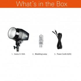 Godox Mini Master Lampu Flash Kamera Studio Strobe Light Lamp 180W - K-180A - Black - 5