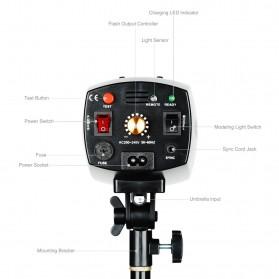 Godox Mini Master Lampu Flash Kamera Studio Strobe Light Lamp 180W - K-180A - Black - 6