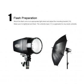 Godox Mini Master Lampu Flash Kamera Studio Strobe Light Lamp 180W - K-180A - Black - 7