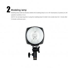 Godox Mini Master Lampu Flash Kamera Studio Strobe Light Lamp 180W - K-180A - Black - 8