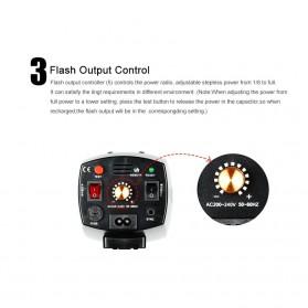 Godox Mini Master Lampu Flash Kamera Studio Strobe Light Lamp 180W - K-180A - Black - 9