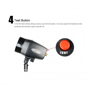 Godox Mini Master Lampu Flash Kamera Studio Strobe Light Lamp 180W - K-180A - Black - 10