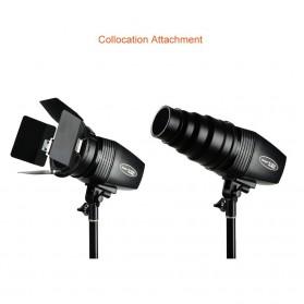 Godox Mini Master Lampu Flash Kamera Studio Strobe Light Lamp 180W - K-180A - Black - 12
