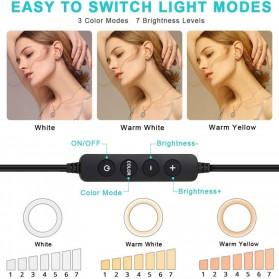 Godox Lampu Halo Ring Light LED Kamera 23.9cm with 1xSmartphone Holder - LR120 - Black - 3