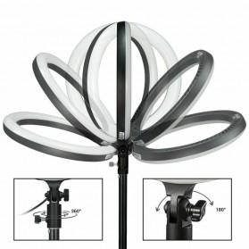 Godox Lampu Halo Ring Light LED Kamera 23.9cm with 1xSmartphone Holder - LR120 - Black - 4