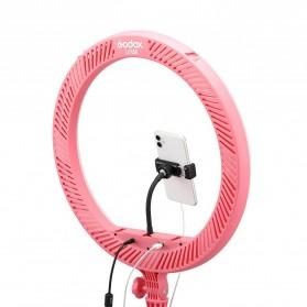 Godox Lampu Halo Ring Light LED Kamera 23.9cm with 1xSmartphone Holder - LR120 - Black - 6