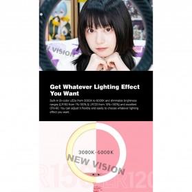 Godox Lampu Halo Ring Light LED Kamera 23.9cm with 1xSmartphone Holder - LR120 - Black - 8