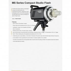 Godox MS300 Compact Studio Flash Light 2.4G Built-in Wireless Receiver 300W - Black - 8