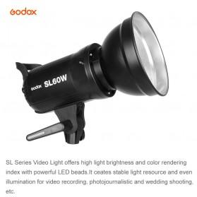 Godox Lampu Kamera Foto Video Continuous Lamp 60W - SL-60W - Black - 5