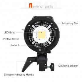 Godox Lampu Kamera Foto Video Continuous Lamp 60W - SL-60W - Black - 6