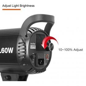 Godox Lampu Kamera Foto Video Continuous Lamp 60W - SL-60W - Black - 11