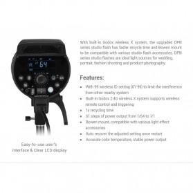 Godox DP600III Studio Flash Light 2.4G Built-in Wireless Receiver 600W - Black - 7