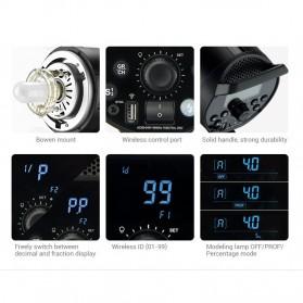 Godox DP600III Studio Flash Light 2.4G Built-in Wireless Receiver 600W - Black - 8