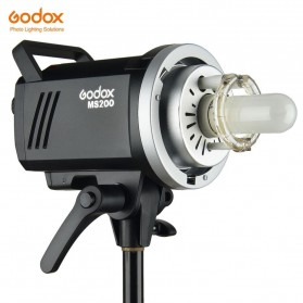 Godox MS200 Compact Studio Flash Light 2.4G Built-in Wireless Receiver 200W - Black