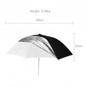 Godox Payung Studio Reflective Photography Umbrella Double Layers 84cm - UB-006 - Black White - 10