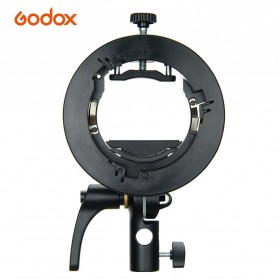 Godox S2 Bowens Mount Flash S-Type Holder Bracket for Godox V1 V860II TT350 AD400Pro AD200Pro - Black