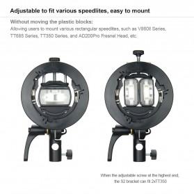 Godox S2 Bowens Mount Flash S-Type Holder Bracket for Godox V1 V860II TT350 AD400Pro AD200Pro - Black - 10
