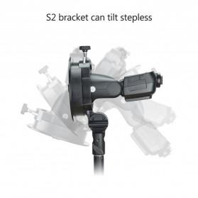 Godox S2 Bowens Mount Flash S-Type Holder Bracket for Godox V1 V860II TT350 AD400Pro AD200Pro - Black - 11