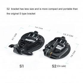 Godox S2 Bowens Mount Flash S-Type Holder Bracket for Godox V1 V860II TT350 AD400Pro AD200Pro - Black - 2