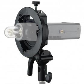 Godox S2 Bowens Mount Flash S-Type Holder Bracket for Godox V1 V860II TT350 AD400Pro AD200Pro - Black - 5