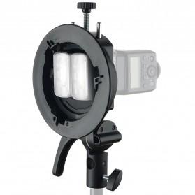 Godox S2 Bowens Mount Flash S-Type Holder Bracket for Godox V1 V860II TT350 AD400Pro AD200Pro - Black - 8