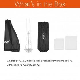 Godox Softbox Reflector Umbrella Rectangular 80x120cm - SB-US-80120 - Black - 2