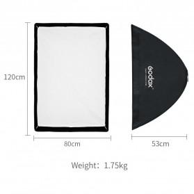 Godox Softbox Reflector Umbrella Rectangular 80x120cm - SB-US-80120 - Black - 3