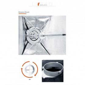 Godox Softbox Reflector Umbrella Rectangular 80x120cm - SB-US-80120 - Black - 7