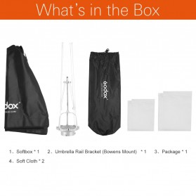 Godox Softbox Reflector Umbrella Rectangular 70x100cm - SB-US-70100 - Black - 2