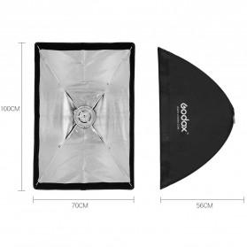 Godox Softbox Reflector Umbrella Rectangular 70x100cm - SB-US-70100 - Black - 3