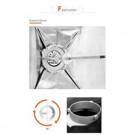 Godox Softbox Reflector Umbrella Rectangular 70x100cm - SB-US-70100 - Black - 7