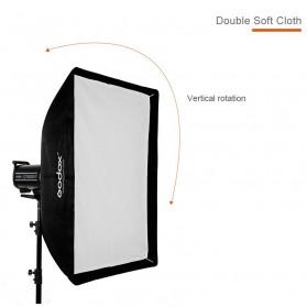 Godox Softbox Reflector Umbrella Rectangular 70x100cm - SB-US-70100 - Black - 9