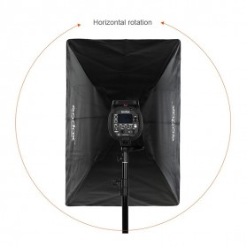 Godox Softbox Reflector Umbrella Rectangular 70x100cm - SB-US-70100 - Black - 10