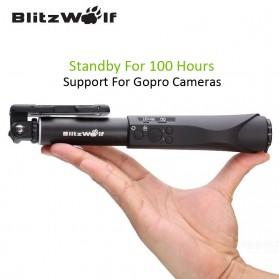 BlitzWolf Tongsis Bluetooth Monopod Shutter Smartphone - BW-BS1 - Sky Blue - 2
