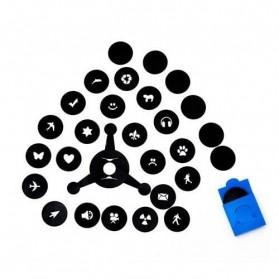 Bokeh Master Kit Blur Filter for Camera 21 in 1 - Black