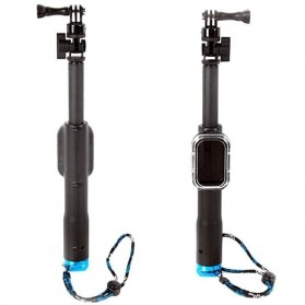 Monopod with Wireless Remote Control Slot for GoPro - Black