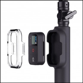 Monopod with Wireless Remote Control Slot for GoPro - Black - 3