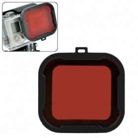 Polar Pro Aqua Cube Snap-on Dive Housing Glass Filter for GoPro 4/3+ - Black/Red - 1