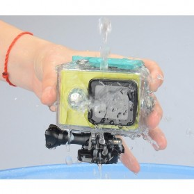 Case Waterproof IPX68 40m untuk Xiaomi Yi Sports Camera (OEM) - Black - 4